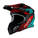 O'Neal 2Series Unisex Offroad-Helm im Spyde-Style, Schwarz/Hi-Viz, Größe XL, Offroad, X-Groß, Schwarz/Petrol/Rot