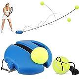 Eyscoco Tennis Trainer Rebound Ball,Solo Tennis Übungsausrüstung zum Selbststudium,Komplettes Tennis Rebounder Tennis Trainingsgerät mit 2 Bällen für Solotraining Erwachsener Kinder Anfänger