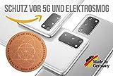 goVital 5G, Strahlenschutz Handy Aufkleber, Strahlung Abschirmung, Elektrosmog EMF, 5G Neutralisierer für WLAN, Laptop, Handy, Strahlungsblocker (6 Pack)