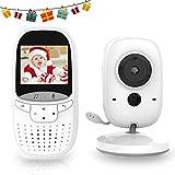 MARKBOARD Wireless Baby Monitor,Babyphone mit Kamera,Video Babyphone, mit Gegensprechfunktion Digital mit Temperatursensor Schlaflieder VOX Funktion für Baby Überwachung … (schwarz-weiß)