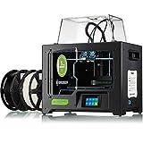 Bresser 3D Drucker T-REX WLAN FFF-3D Drucker mit Twin Extruder (zweifarbig), LCD Touchscreen und geschlossenem Ganzmetall-Rahmenkorpus für eine Baugröße bis 227x148x150mm, schwarz, groß