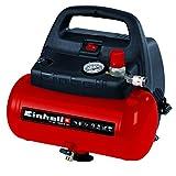 Einhell Kompressor TC-AC 190/6/8 OF (1.100 W, max. 8 bar, öl-/servicefreier Motor, 6 Liter Drucklufttank, Manometer, Schnellkupplung, Sicherheitsventil, Handgriff)