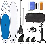 EASYmaxx - MAXXMEE Stand-Up Paddle-Board 'My Private Beach' | Inkl. Tragetasche, Reparatur-Kit & Luftpumpe, mit praktischem Tragegriff | Premium Qualität