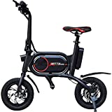 Trotty Bike Elektroroller Scooter (250 Watt, 24 km/h, max. 20 km, 5.200 mAh Li-Ion Akku, Luftreifen; bis 150 kg) schwarz