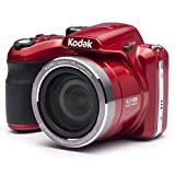 KODAK Pixpro AZ421 - Digitale Bridgekamera (16 MP, 42-facher optischer Zoom, HD-Video, 3'-LCD-Monitor) Rot