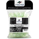 Nicrid 8 Loch Premium Einweg-Zigarettenfilter – Vorteilspaket (300 Stück) – Fortschrittliches Filtrationssystem – für Zigaretten normaler Größe – Filtertipps für Raucher