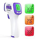 Infrarot Thermometer Digitales Fieberthermometer IDOIT Kontaktlos Stirn Thermometer gegen Fieber, 3 in 1 medizinisches Thermometer LCD Anzeige mit genauer Messwert
