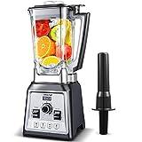 Standmixer Smoothie Maker, AMZCHEF 2000W Smoothie Blender, Standmixer Hochleistung(25,000 U/min,4 Vorprogramme,2L BPA Free Behälter,8-Klingen-Edelstahlmesser,Stößel,mit Rezeptbuch)[Energieklasse A+++]