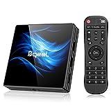 Bqeel Android 10.0 TV Box【4G+64G】 R2 MAX Android TV Box mit RK3318 Quad-Core 64bit Cortex-A53/ unterstützt WiFi 2.4G/5.0G /Bluetooth 4.0/ 4K/HD/ USB 3.0/H.265 Smart tv Box Android Box
