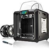Bresser 3D Drucker REX II WLAN mit 25x28x30cm Bauvolumen, beheizbarer Bauplattform, Druckbett-Levelling, 5' Touchscreen und geschlossenem Vollmetallgehäuse