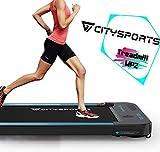 Laufband mit 440 W Elektromotor, integrierte Bluetooth-Lautsprecher, einstellbare Geschwindigkeit, LCD-Bildschirm und Kalorienzähler, ultraflach und leise