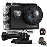 DEVETOP Glory60 Action Cam 4K 20MP Ultra HD Sportskamera 40M Wasserdicht Unterwasserkamera 170° Weitwinkel WiFi 2.4G Fernbedienung 2 * 1050mAh Akkus
