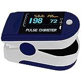 Pulsoximeter PO-200 Solo von Pulox in dunkelblau für die Messung des Puls und der Sauerstoffsättigung am Finger inkl. Batterien