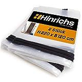 Hinrichs 2 x Staubschutztür mit Reißverschluss - Staubschutztür Transparent - 220x120 cm große Bautür - Für Renovierung Umbau Sanierung