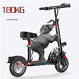 Elektroroller E-Scooter Zusammenklappbarer Elektroroller Roller mit 3 Geschwindigkeitsmodi Bis zu 40km/h | 8.8A Li-Ionen-Akku | Maximale Belastung von 180kg Für Erwachsene und Kinder