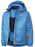 Crivit Jungen Schneejacke Skijacke Snowboadjacke Wasserabweisend Winddicht Schneefang mit Antiruschgummi (122-128, Blau)