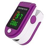 Fingerclip Pulsoximeter Fingerspitze tragbares Oximeter Herzfrequenz Blutsauerstoffsättigungsmonitor lila