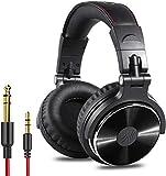 OneOdio DJ Kopfhrer, Studiokopfhrer, Over-Ear Headset, Adapter-frei Geschlossener Headphone 6,3mm & 3,5 mm Stereo/Studio Monitor & Mixing/Teleskoparme mit Skala/neuester 50mm Neodym Treiber