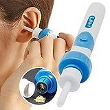 Ohrenreiniger Ohr-Auswahl-Löffel-elektrisches Ohrenschmalz-Entferner-Werkzeug-automatischer Ohr-Reiniger-Earpick-Wachs-sicherer Remover-Schmerzlos-Werkzeug (Batterie eingeschlossen)