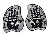 arena Unisex Schwimm Wettkampf Trainingshilfe Hand Paddle Vortex (Ergonomisch, Für Kraft- und Techniktraining), Silver-Black (15), M