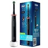 Oral-B PRO 3 3000 CrossAction Elektrische Zahnbürste/Electric Toothbrush, mit 3 Putzmodi und visueller 360° Andruckkontrolle für Zahnpflege, Designed by Braun, schwarz