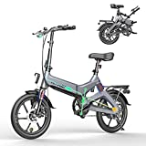HITWAY Elektrofahrräder E Bike Elektrofahrrad Klapprad Klappräder Faltrad 250W elektrisches Fahrrad Fahrräder Cityräder mit 7,5 Ah Batterie, 16 Zoll