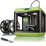 Bresser 3D Drucker Saurus mit WLAN und Filament-Bundle mit offenem Gehäuse für PLA, ideal für Einsteiger mit umfangreicher Anleitung und Software, grün, 420x420x420