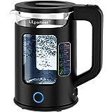 Wasserkocher,Lilpartner 1,7 L Glaswasserkocher (BPA-frei) Schnurlos mit LED-Anzeigelampen, 3000W tragbarem Elektro-Warmwasserkessel, automatischem Abschaltschutz, Wasser Schnell Kochen