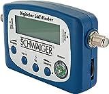SCHWAIGER -5170- SAT-Finder digital/Satellitenerkennung/Satelliten-Finder mit integriertem Kompass und Tonausgabe/Ausrichtung LNB/Messgerät zur optimalen Positionierung der Satelliten-Schüssel