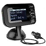 [PLUG & PLAY] DAB Adapter für Autoradio , DAB Transmitter Tragbar DAB+ Digitales Radio Adapter mit Bluetooth FM Transmitter +Aux-in/out+USB KFZ Ladegerät+TF Musik spielen+Freisprechanruf+2.3' Schirm