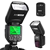ESDDI Canon Blitzgert, 1/8000 HSS Wireless Flash Speedlite GN58 2.4G Funk Master Slave fr Canon, Professional Blitz Kit mit Wireless Flash Trigger