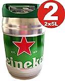 2 x 5 LITER HEINEKEN BIERFASS MIT ZAPFHAHN Draught Keg 5% Incl. Goodie von Flensburger Handel
