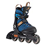 K2 Inline Skates RAIDER PRO Für Jungen Mit K2 Softboot, Black - Blue - Orange, 30D0221