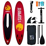 Suprfit Stand Up Paddling Board, SUP Board als aufblasbares Komplett-Set, Stand Up Paddle Board mit doppelter PVC Schichtung, Stand-Up Paddling, Standup Paddleboard - 330 x 78 x 15 cm bis max.130 kg