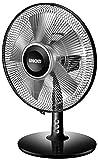 Unold 86817 TISCHVENTILATOR Silverline Black, 25 W, 2-stufig, Schwarz/Silber, Tragegriff, Neigungswinkel verstellbar, Oszillation zuschaltbar, Ventilatordurchmesser 25 cm