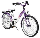 BIKESTAR Kinderfahrrad für Mädchen ab 6 Jahre   20 Zoll Kinderrad Classic   Fahrrad für Kinder Lila & Weiß   Risikofrei Testen