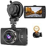 【2021 Version】 CHORTAU Dashcam GPS Autokamera Full HD 1080P, Dashboard Kamera 170° Weitwinkel, 3-Zoll Bildschirm, Armaturenbrettkamera mit GPS-Modul, Loop-Aufnahmen, G-Sensor
