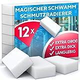 Schmutzradierer Schwamm, hohe Dichte - Nano Melamin Schwämme, Reinigung nur mit Wasser, Starke Reinigungskraft, universell einsetzbar - Magic Dirt Eraser