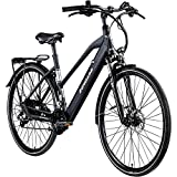 Zündapp Z810 Damen E-Bike Trekkingrad Pedelec E-Trekkingrad Fahrrad Trekking Bike StVZO (schwarz, 50 cm)