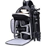 Kameratasche, CADeN Kamera Umhängetasche Sling Brusttasche Bag Wasserabweisend Kompatibel mit Canon Nikon Sony Pentax DSLR/SLR und Spiegelreflexkameras Stativ