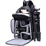 Kameratasche, CADeN Kamera Umhngetasche Sling Brusttasche Bag Wasserdicht fr DSLR/SLR und Spiegelreflexkameras Canon Nikon Sony Pentax Stativ (Schwarz)