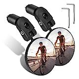 TAGVO 2 Stück Fahrradspiegel, HD Weiter Winkel Fahrradrückspiegel, 360 Grad Einstellbar Drehung Lenker Konvexspiegel für Mountainbike-Radfahren