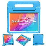 GOZOPO Kinder Hülle Kompatibel mit Huawei MatePad T10S/T10 2020 - Stoßfeste Hülle mit Griff Ständer für Huawei MatePad T10S/T10 Hülle (Blau)
