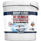 BINFORD WC Reiniger EXTRA STARK 1kg WC Schaum mit Abperl-Effekt, selbständig arbeitender Toilettenreiniger extrem stark | Kalklöser & Urinsteinentferner | Toiletten reinigen mit WC Pulver
