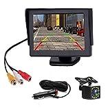 Rückfahrkamera Auto Rückansicht mit Nachtsicht 12 LED Wasserdicht Rückfahrsystem + 4.3' LCD Auto Monitor,Rückfahrkameras für PKW, SUV, Lieferwagen, Pickups und LKW