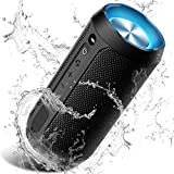 Wireless Bluetooth Lautsprecher Tragbare, Verbesserter IP67 Wasserschutz, 24 Watt Wireless 360° Sound Kabelloser Lautsprecher Tragbarer mit eingebautem Mikrofon, für iOS, Android, TV