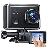 Victure AC900 Action Cam Webcam PC Camera Echte 4K 20MP EIS WiFi Touchscreen Unterwasserkamera wasserdichte 30M Helmkamera mit 2 × 1350mAh Batterien