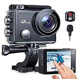 Crosstour CT9900 Action Cam 4K 60FPS Unterwasserkamera Ultra HD Touchscreen 8X Zoom Externes Mikrofon EIS Webcam Camcorder Fernbedienung / 2*1350mAh Akkus und Zubehör-Kits