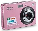 AbergBest 21 Megapixel 2,7'LCD wiederaufladbare HD Digitalkamera Digitale Videokamera Studentenkamera Indoor Outdoor für Erwachsene/Senioren/Kinder (Rosegold)