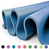 Glamexx24 XXL Fitnessmatte Yogamatte Pilatesmatte Gymnastikmatte EXTRA-dick und weich, ideal fr Pilates, Gymnastik und Yoga Blau